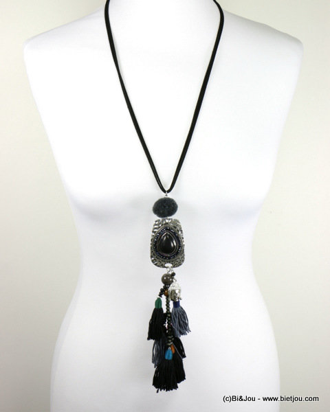 necklace 0116579-01_2 sautoir buddha tassel reconstituted stone-metal-polyester-crystal-wood-suede