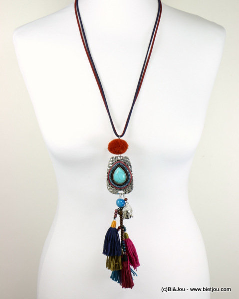 necklace 0116579-99_2 sautoir buddha tassel reconstituted stone-metal-polyester-crystal-wood-suede