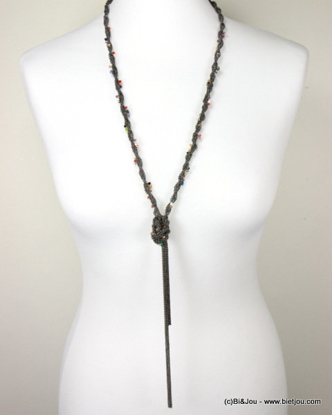 necklace 0116605-20 sautoir metal-crystal
