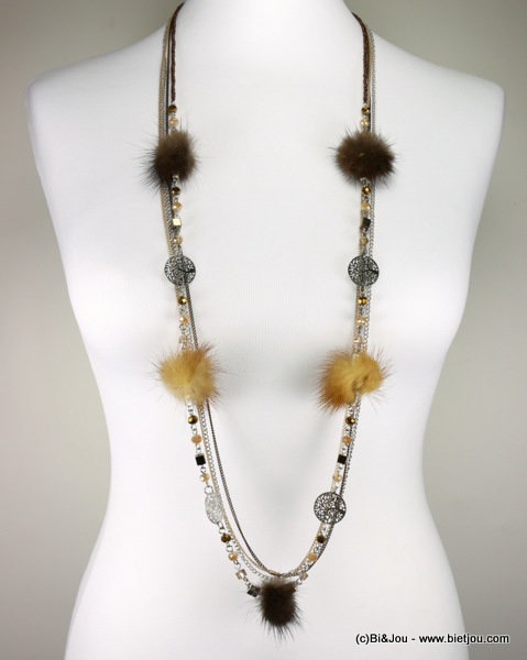 necklace 0116688-02 sautoir metal-synthetic-crystal