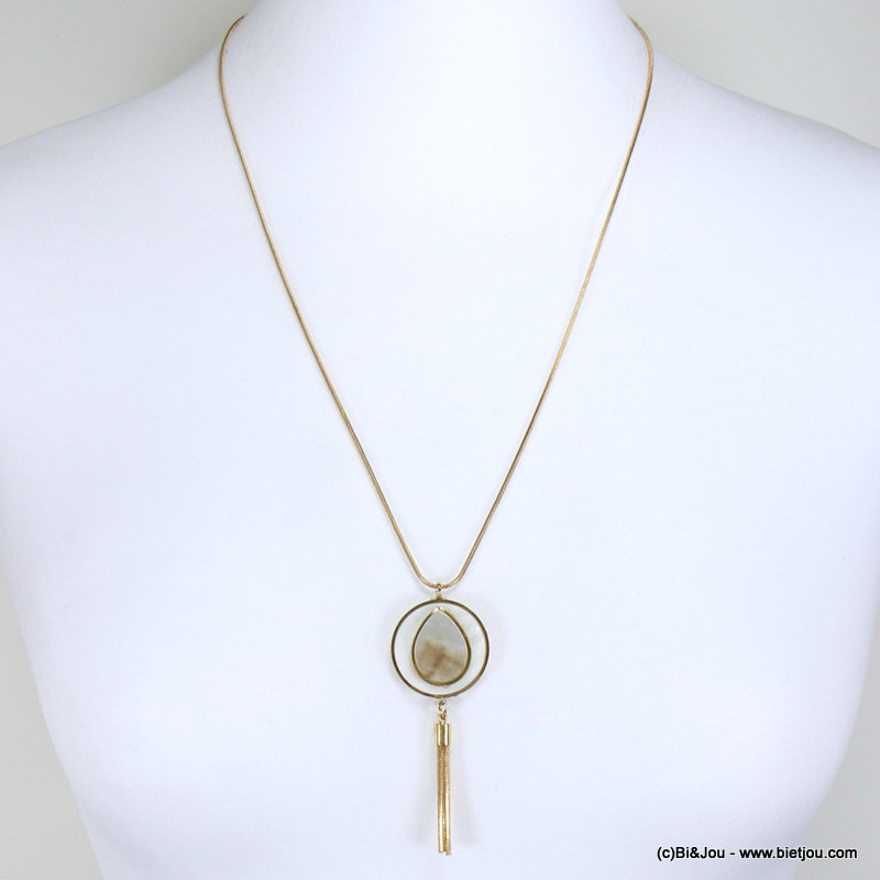 necklace 0117050-14 shell metallic tassel metal-shell-synthetic