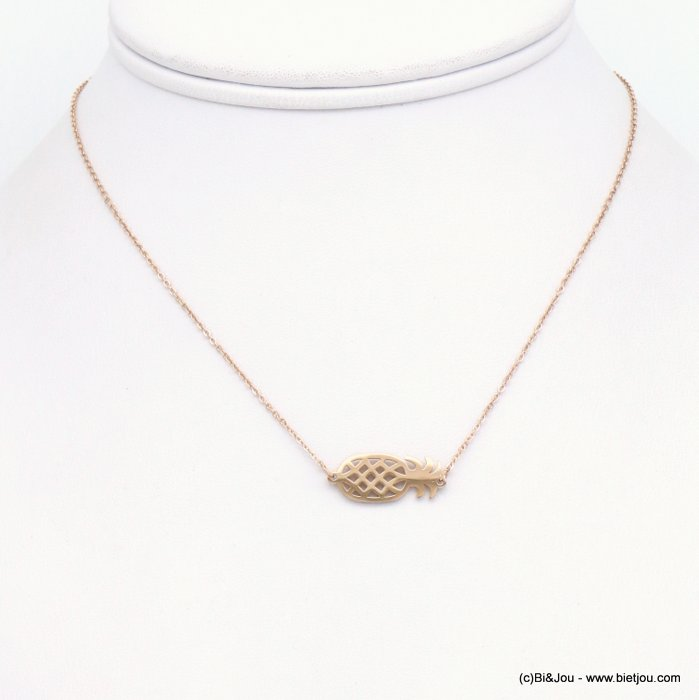 necklace 0117201-23 Pineapple stainless steel