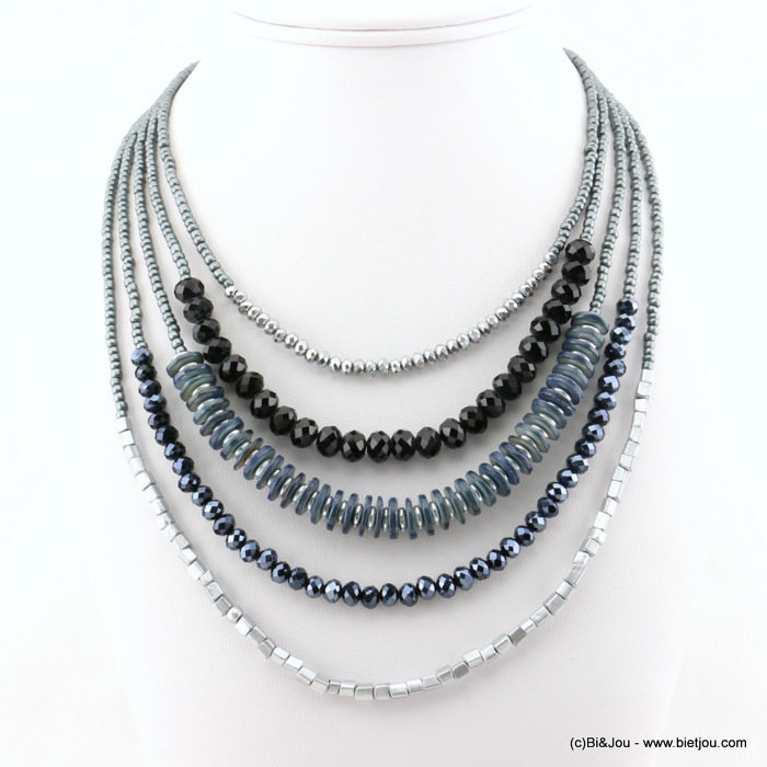 necklace 0117528-01 shell-metal-crystal-seed beads-seed beads