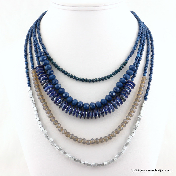 necklace 0117528-09 shell-metal-crystal-seed beads-seed beads