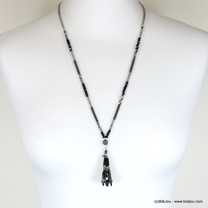 necklace 0117673-01 sautoir crystal-metal-reconstituted stone-CCB