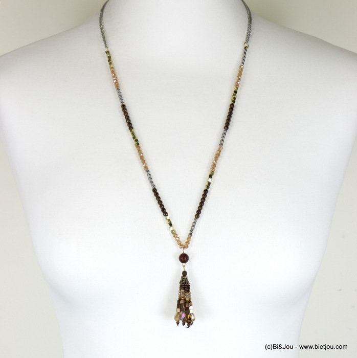 necklace 0117673-02 sautoir crystal-metal-reconstituted stone-CCB
