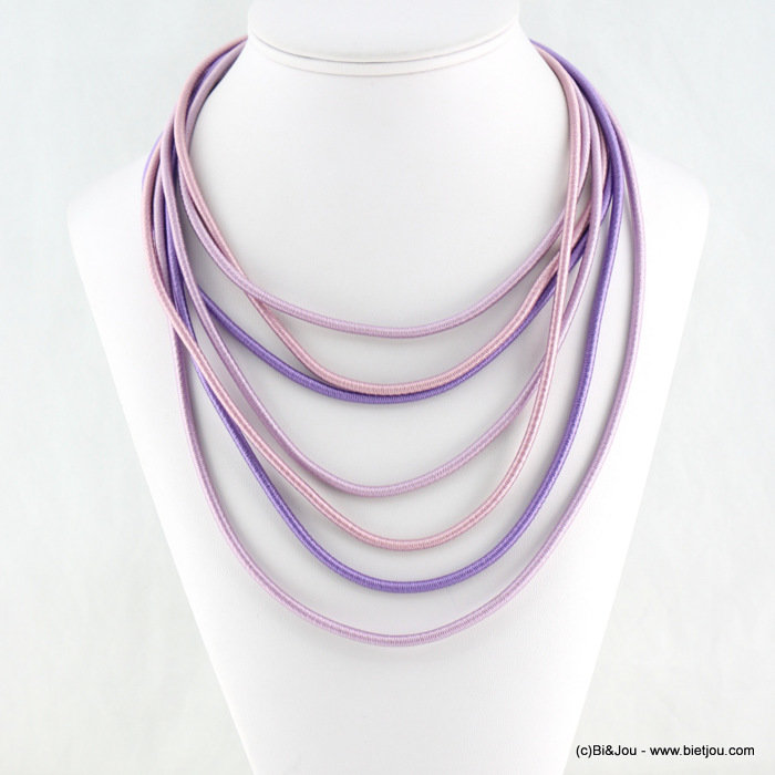 necklace 0118130-04 polyester cord-metal