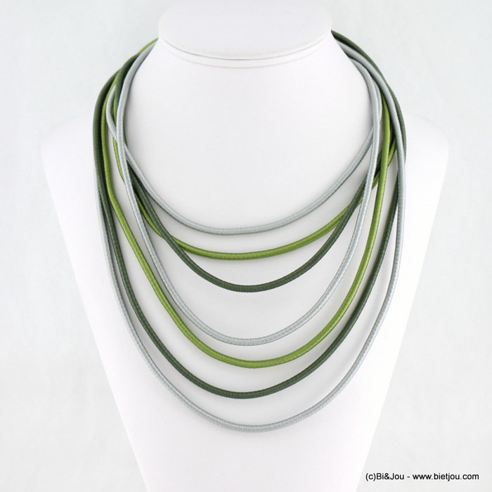necklace 0118130-07 polyester cord-metal