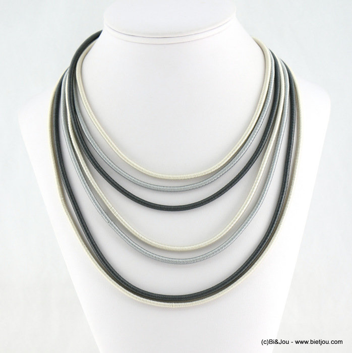necklace 0118130-25 polyester cord-metal