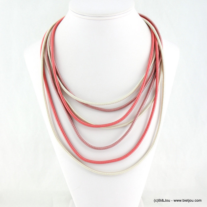 necklace 0118130-36 polyester cord-metal