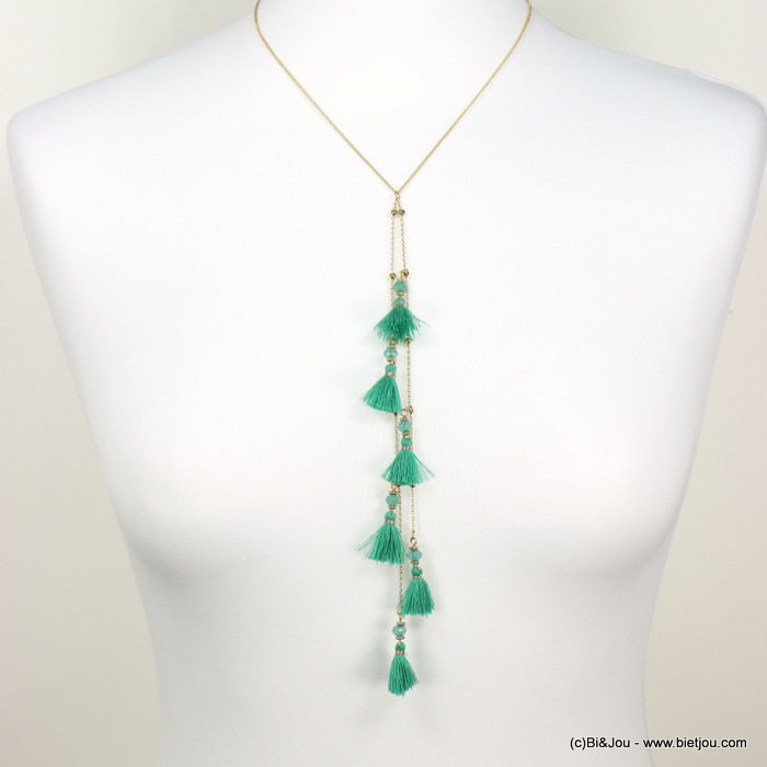 necklace 0118228-07 sautoir tassel metal-polyester