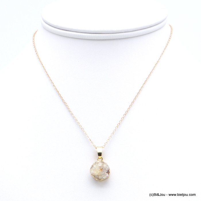 necklace 0118256-19 natural stone pendant slave link chain