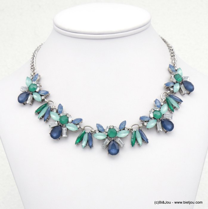 necklace  0118518-09 coloured rhinestone metal women