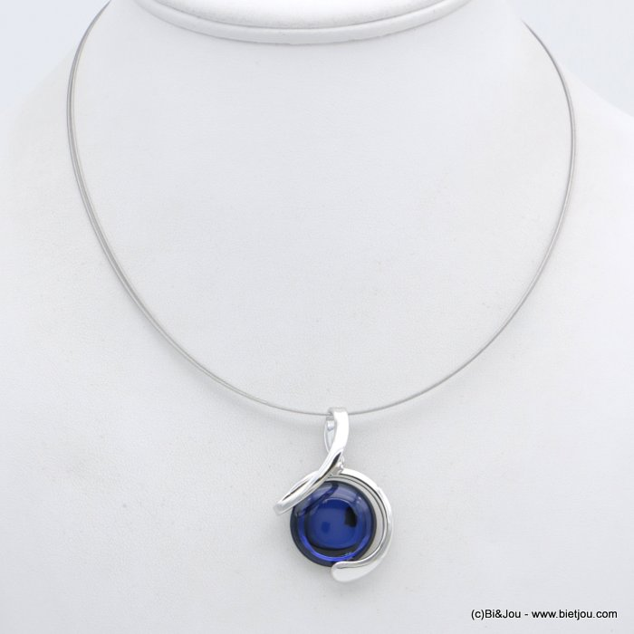 "necklace 0118554-09 ""clear glass"" pendant metal-wires"