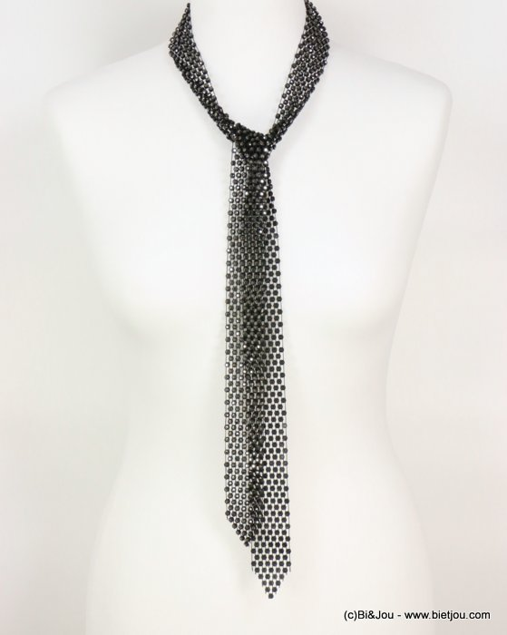 necklace 0118605-20 adjustable tie lasso oversize rhinestone woman