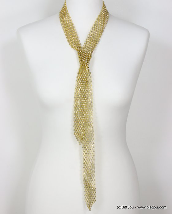 necklace 0118605-43 adjustable tie lasso oversize rhinestone woman