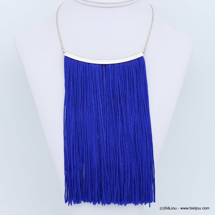 necklace 0118630-09 tassel metal-polyester