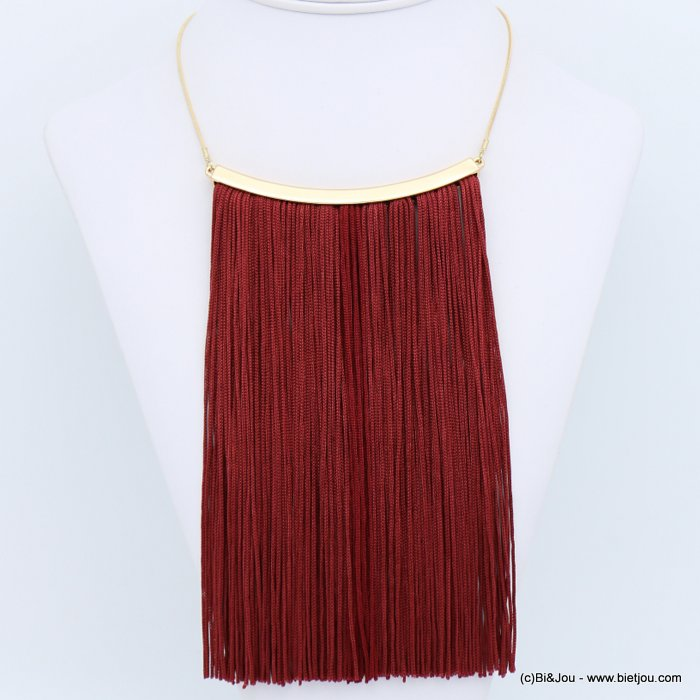 necklace 0118630-10 tassel metal-polyester