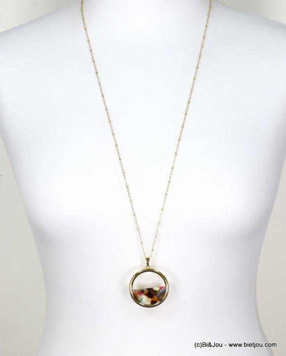 long necklace 0118663-99 tortoise shell resin-metal