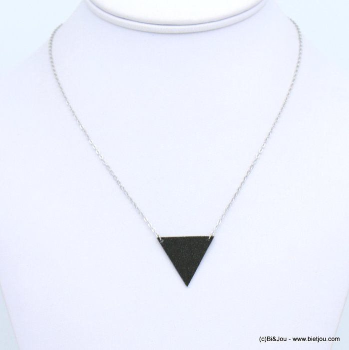 necklace 0118672-13 glitter metal