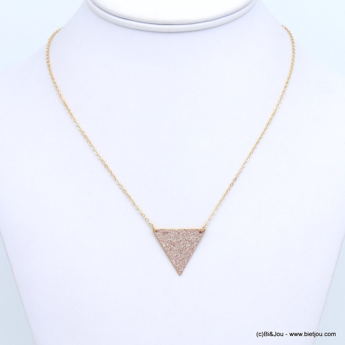 necklace 0118672-14 glitter metal