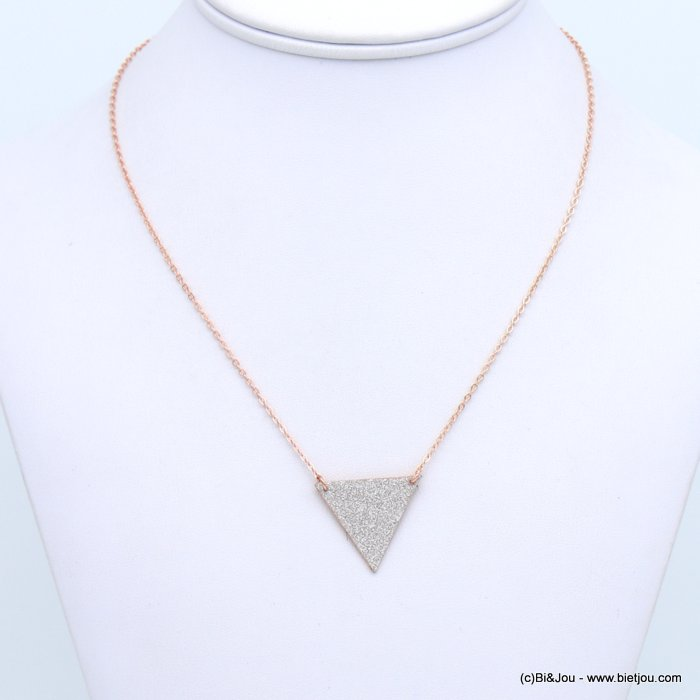 necklace 0118672-23 glitter metal