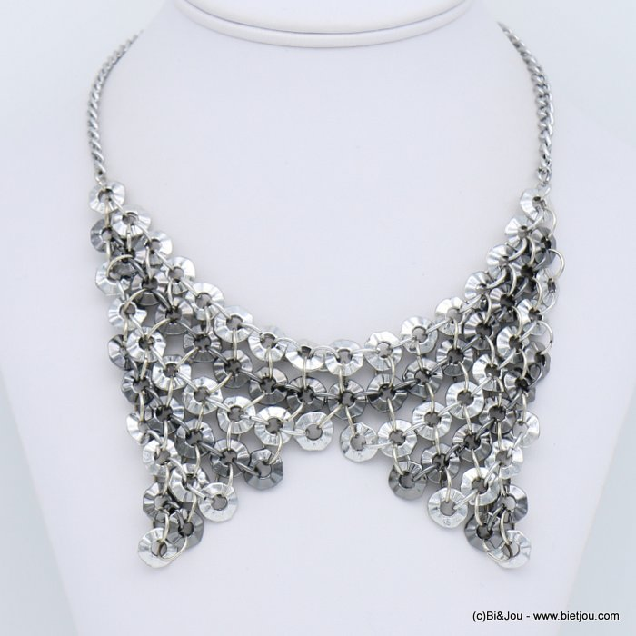 necklace 0118674-13 bib antique two-tone metal