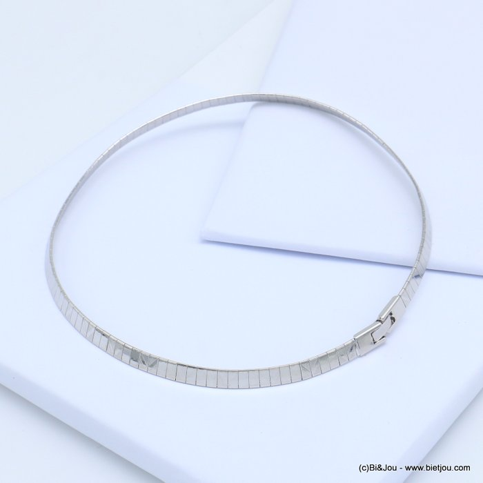necklace 0119115-13 metal flexible choker fold over link watch clasp 6x400mm