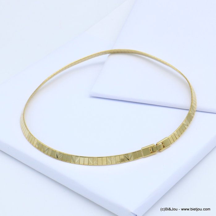 necklace 0119115-14 metal flexible choker fold over link watch clasp 6x400mm