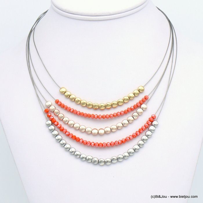 necklace 0119121-11 crystal-metal