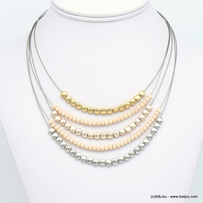 necklace 0119121-37 crystal-metal
