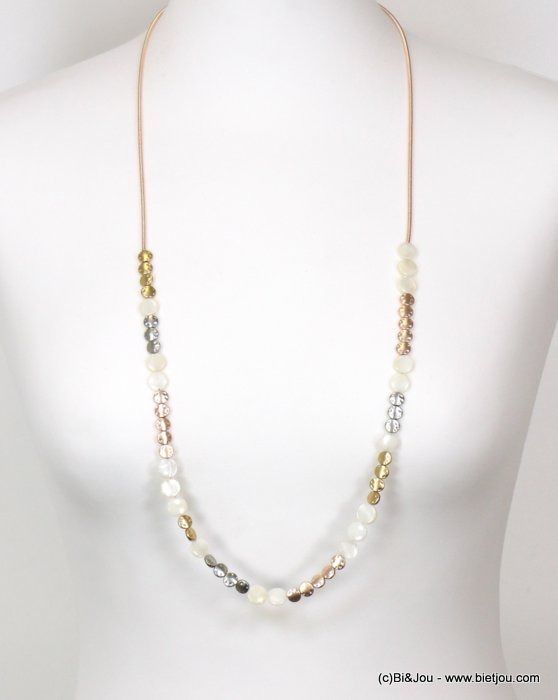 long necklace 0119128-19 sautoir metal-shell
