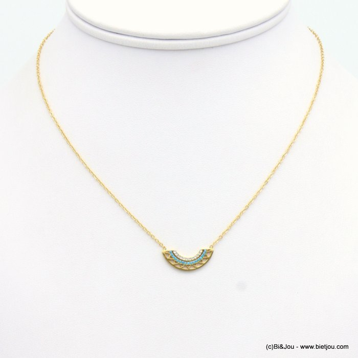 collier 0119141-14 acier inoxydable-strass-cristal
