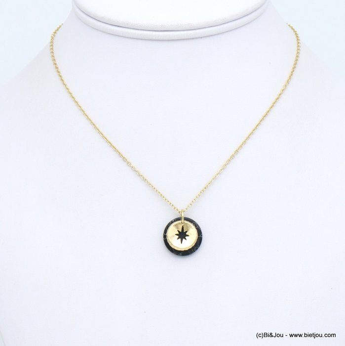 necklace 0119152-01 metal-reconstituted stone