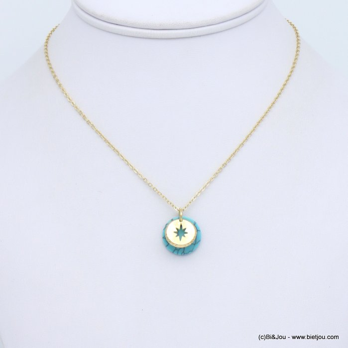 necklace 0119152-17 metal-reconstituted stone