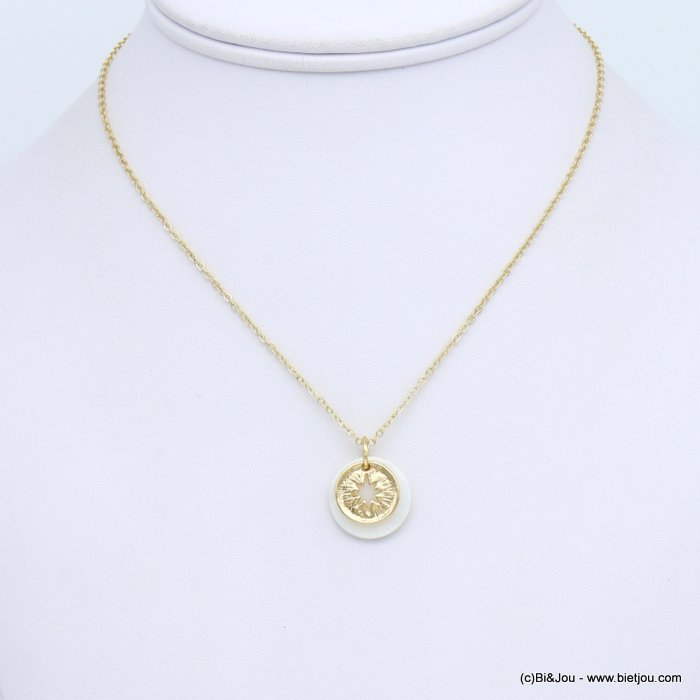 necklace 0119152-19 metal-nacre