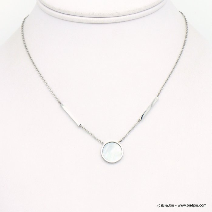 necklace 0119251-13 stainless steel-shell