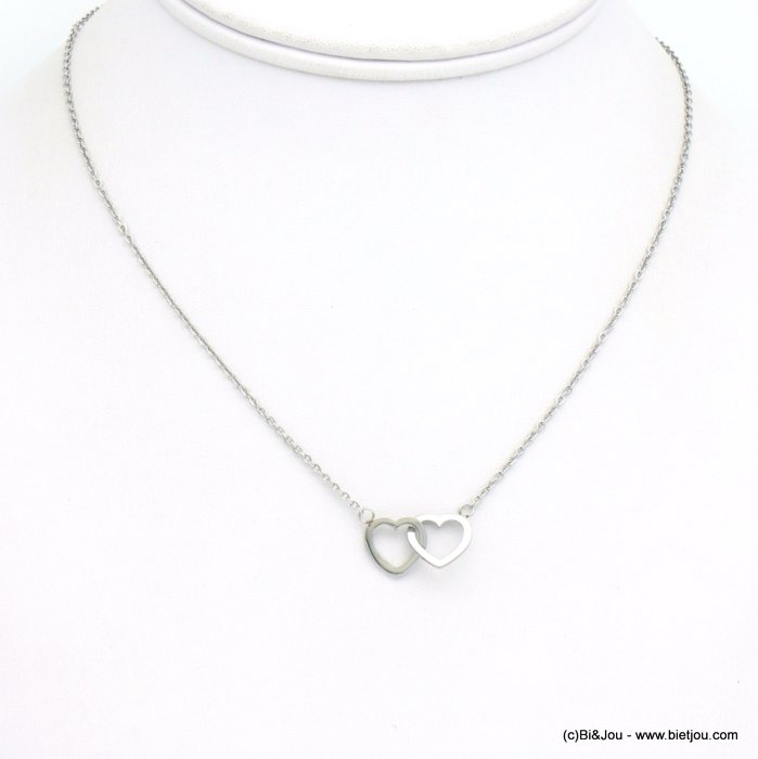 necklace 0119257-13 coeur stainless steel