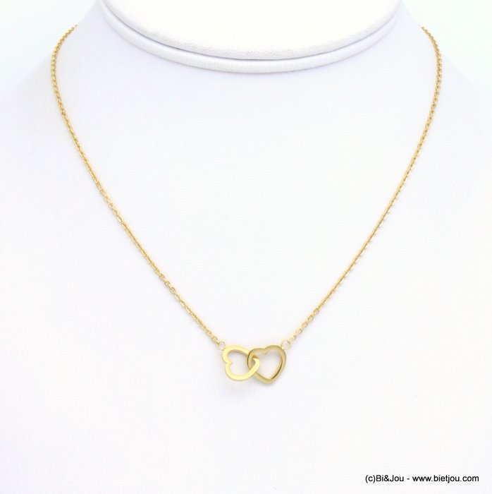 necklace 0119257-14 coeur stainless steel