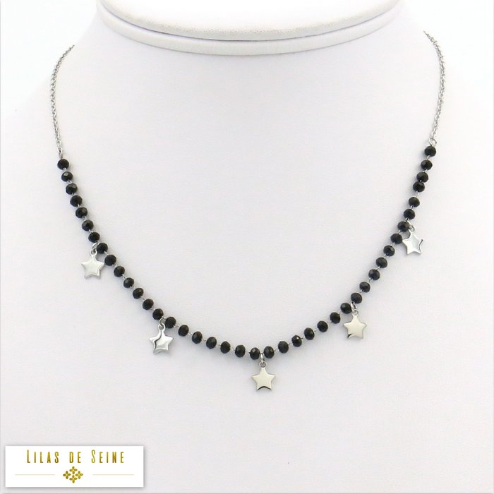 necklace 0119289-13 stainless steel star crystal