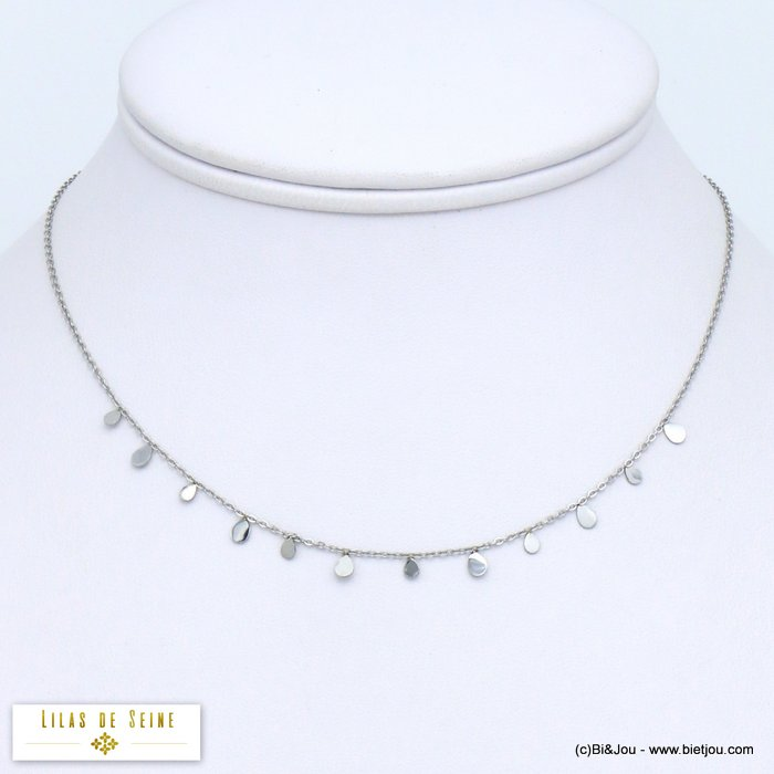 necklace 0119563-13 little drops stainless steel