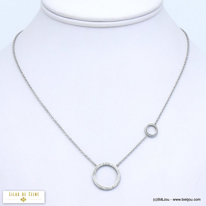 necklace 0119566-13 rings stainless steel rhinestone
