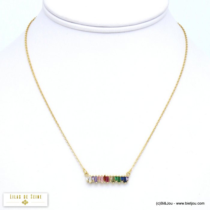 necklace 0119568-14 metal coloured rhinestone women slave link chain
