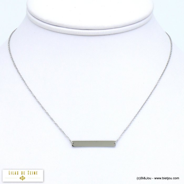 necklace 0119574-13 bar stainless steel woman slave link chain