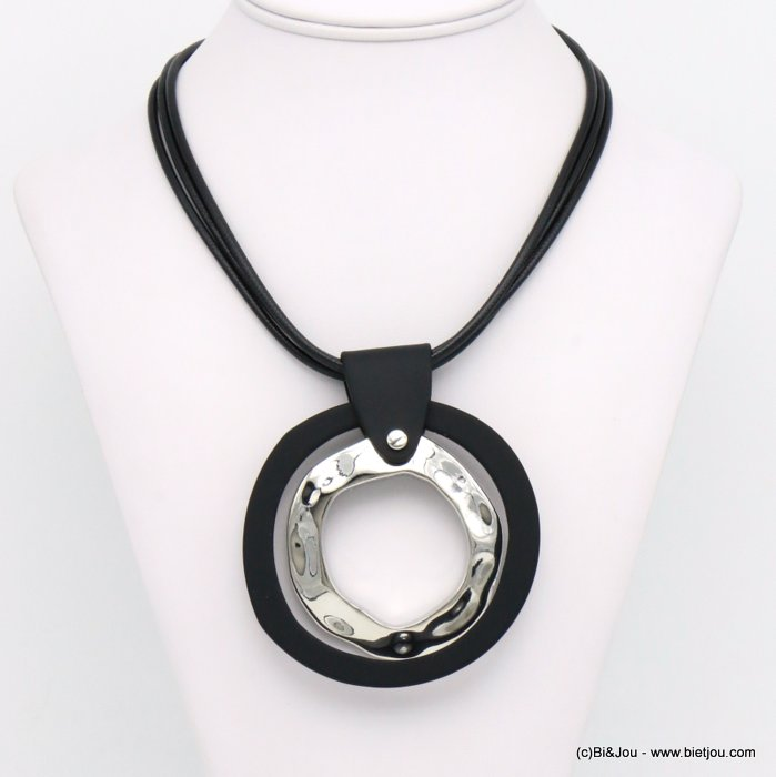 necklace 0119589-01 resin-metal-nylon