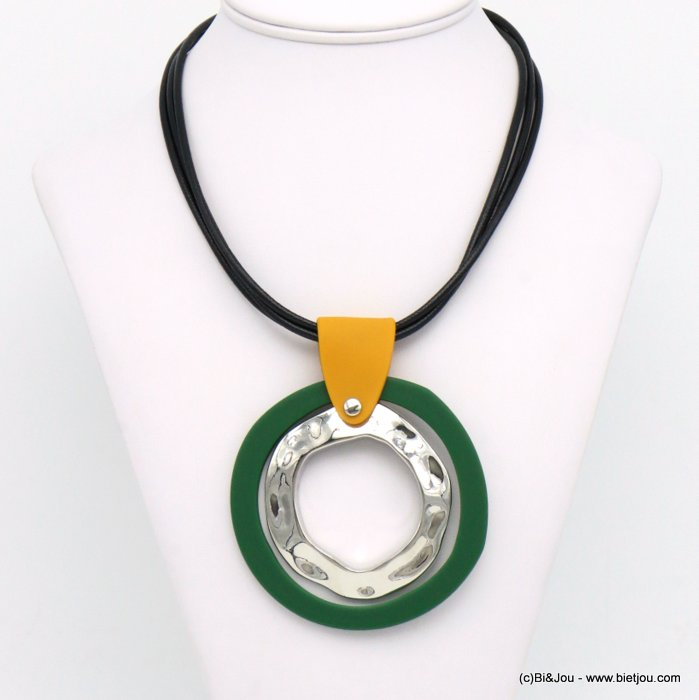 necklace 0119589-03 resin-metal-nylon