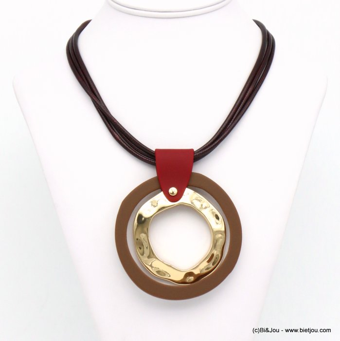 necklace 0119589-11 resin-metal-nylon