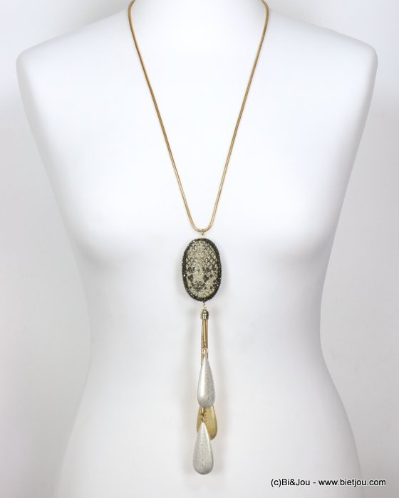 long necklace 0119593-14 sautoir snake print pendant rhinestone metal drops snake chain