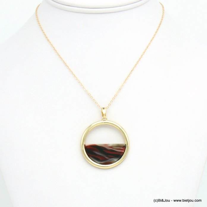 necklace 0119624-10 resin tortoise shell metal