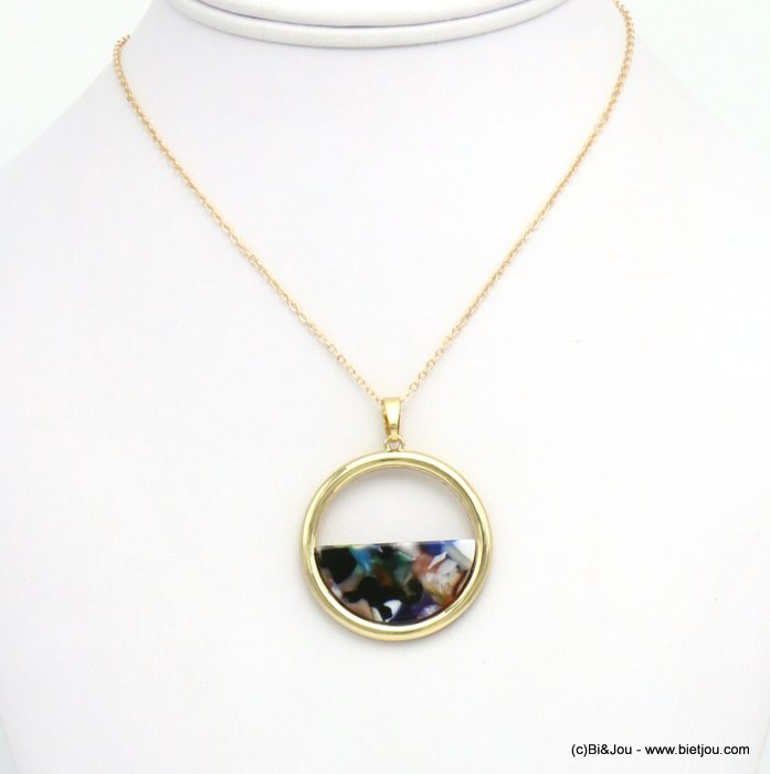 necklace 0119624-99 resin tortoise shell metal